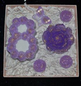 """Подарочный набор """"Фиолетовый пион"""""""