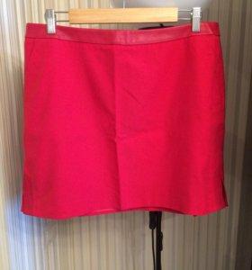Красная стильная юбка новая
