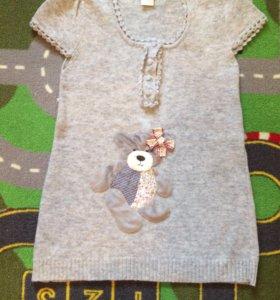 Вязаное платье для девочки новое
