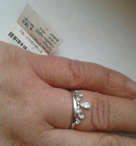 Кольцо серебро 18 р