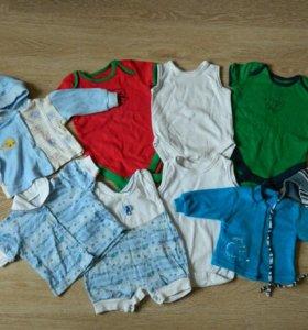 Много детской одежды и обуви на мальчика от0 до 2