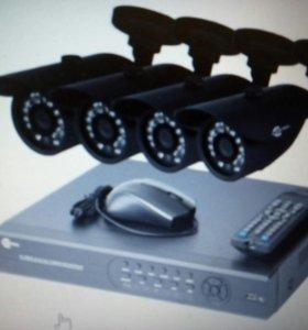 Комплект видеонаблюдения уличный