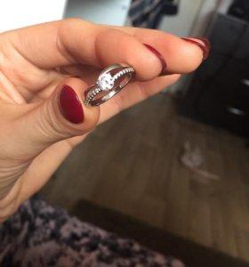 Кольцо серебряное с фианитами 💋☺