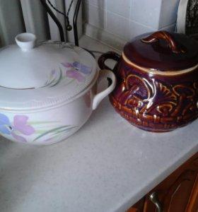 фарфоровая и керамическая  супницы