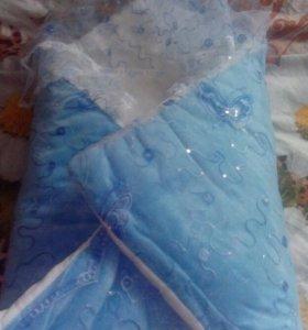 Одеяло на выписку (зима)