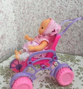 Пупс в коляске