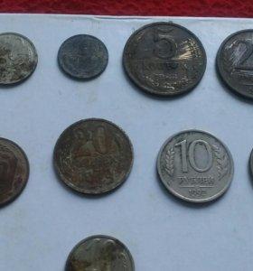 Монеты СССР И 1 украинская