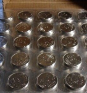 4 блистера по 25 монет Сочи