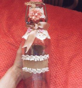 Бутылка декор