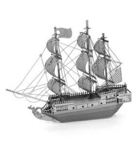 Сборная металлическая 3D модель-Черная жемчужина