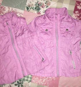 Куртка (ветровка) + жилет (утепленный)