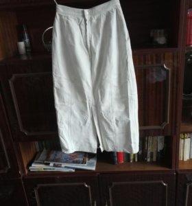 Натуральная кожа юбка на подкладе.