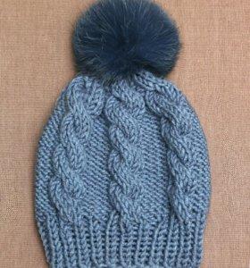 Шапки шарфы комплекты#шапкаспомпоном#ручнаяработа#