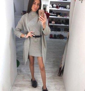 ✨ Вязаное платье и кардиган