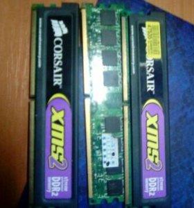 Оперативки DDR2 по 1 гб