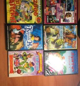 DVD диски мультики для детей.