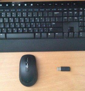 Беспроводные клавиатура и мышь Microsoft