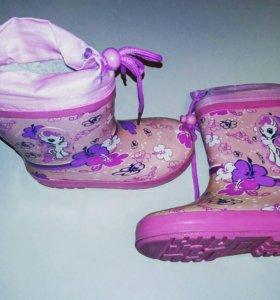Резиновые сапоги для девочек 3-4 года