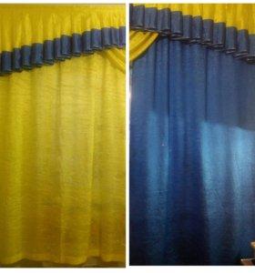 Продам набор шторы + ламбрекен в детскую