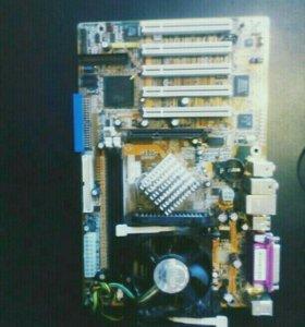 Материнка+процессор+кулер.