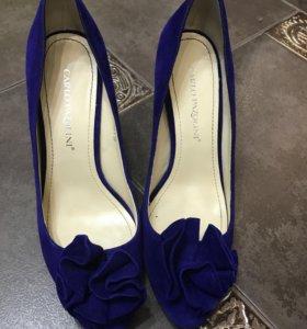 Туфли женские , нат замша, Италия