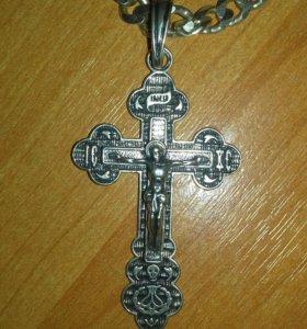 Серебряный крест новый