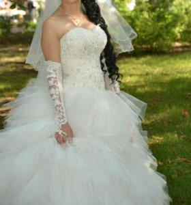 Свадебное платье +подарок,торг