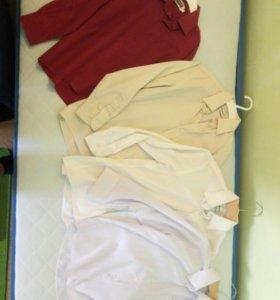 4 рубашки на 122-128 см