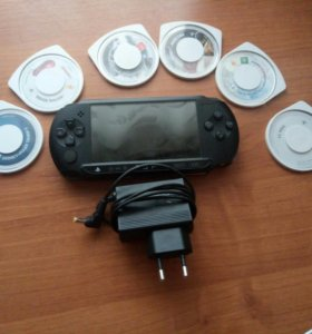PSP e1008 + 6 игр