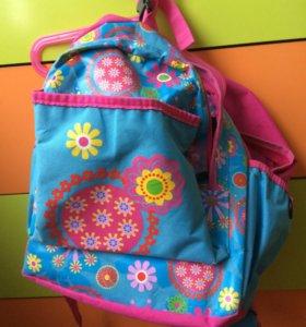Рюкзак школьный с ортопедической спинкой.
