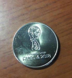 Монета 25руб Футбол 2018