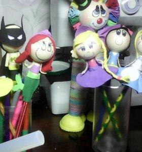 Куклы из фоамирана, а так же куклы на ручку