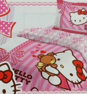Комплект постельного белья Hello Kitty,1,5 сп.