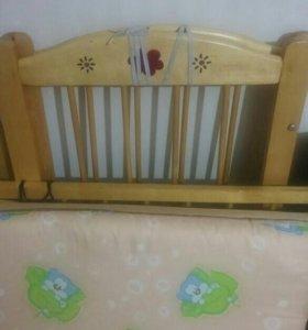 Кроватка детская качалка
