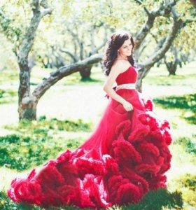 Фотосессия в платье-облако