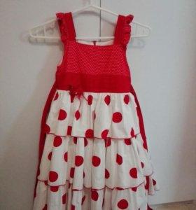Платье в горошек детское
