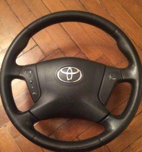 Руль кожаный Тойота Авенсис 2003-2009г