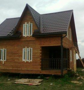 Строительство брусовых, каркасных домов.