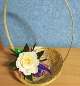 Корзинка декоративная из бамбука