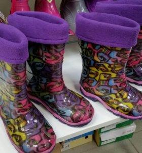 Дюна Резиновые сапоги .Вставной носок