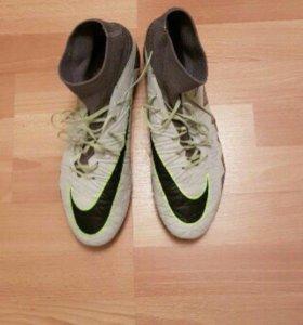 Бутсы Nike hypervenom с носком