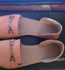 Замшевые женские сандали