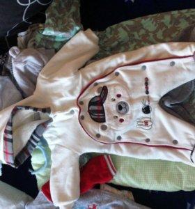 Одежда для новорождённых с 56 по 68 размеры