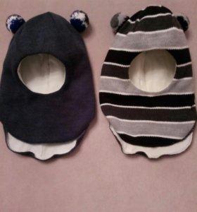 Зимние шапки шлемы на 4 года