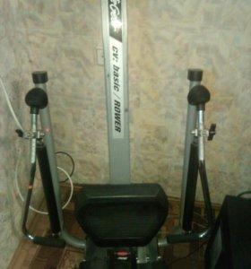 Тренажер гребной basic/rower (life gear)