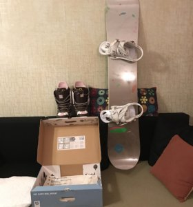 Сноуборд+крепы+ботинки BURTON