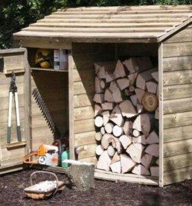 Деревянный шкаф для хранения