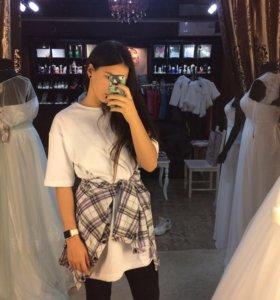 Белое кофто-платье