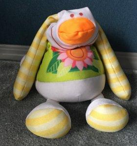 Заяц мягкая игрушка с шариками