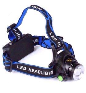 Налобный фонарь с мощным Led диоде T6